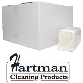 218031 - C-fold papieren handdoekjes cellulose C-vouw 2-laags 31x25 cm - 16 x 152 st p/ds wit