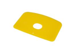 60380114 - Hoogwaardige kleurcode HACCP hygiënische deegschraper 146 x 98 mm,geel