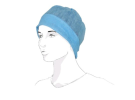 C13600 - Surgical cap viscose/polyester 40gram blauw Large