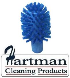 41220104-2 - FBK Hoogwaardige kleurcode HACCP hygiënische kunststof medium wormhuisborstel Ø 90 mm blauw 27133
