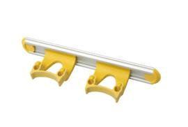 700102104-4 - Wand railophangsysteem kleurcode HACCP aluminium 300 mm 2x klem geel 15158