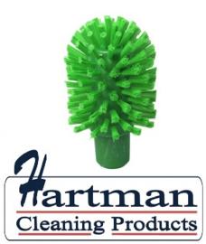 41220104-5 - Hoogwaardige FBK kleurcode HACCP hygiënische kunststof medium wormhuisborstel Ø 90 mm groen 27133