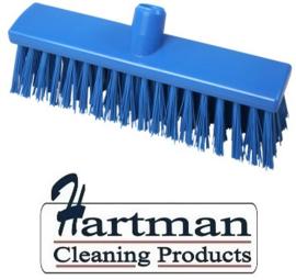 22110129-2 - FBK Hoogwaardige kleurcode HACCP Polyester hygiënische kunststof extra harde bezem 300 x 60 mm blauw 23187