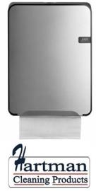 441192 - Quartz-Line Vouwhanddoekjes Dispenser ( Mat Zilver / Zwart )