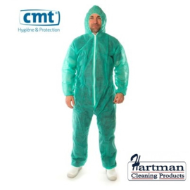 819108 - CMT pp non woven coverall, groen, Medium regular