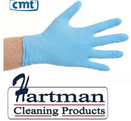 1001 - CMT nitril handschoenen poedervrij X-Small blauw 10 x 100 stuks