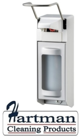 8020 - Zeep- & desinfectiemiddeldispenser aluminium 500 ml LB, MediQo-line MQL05A