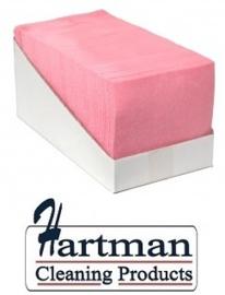 P42008 - Sopdoek roze 140 gr/m2, a kwaliteit pluisarme doek Doos a 65 doeken