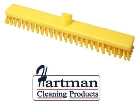 33210102-4 - FBK HACCP kleurcode schrobber met harde vezels geschikt voor hardnekkige reiniging van vloeren en wanden 400 x 50 mm, hard, geel 21153