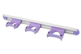 711102105-8 - Wand railophangsysteem kleurcode HACCP aluminium 500 mm 3 x klem paars 15155
