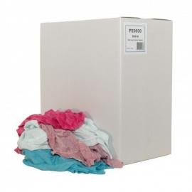 P23930 - Eenzijdig geluste bonte tricot poetslappen 10 KG