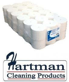 250201 -Euro Coreless toiletpapier 1 laags wit zonder huls 1400 vel - 36 rol p/pak