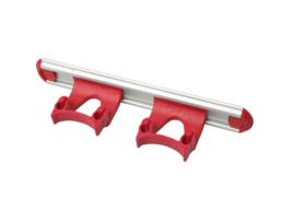 700102104-3 - Wand railophangsysteem kleurcode HACCP aluminium 300 mm 2x klem rood 15158