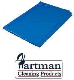 456116 - Blauwe HDPE afvalzakken van 70x110 cm, en 20 my dik. Verpakking: 25 rollen à 20 zakken