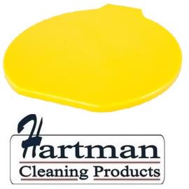 313106102-4 - FBK Deksel voor emmer 15 liter hoogwaardige kleurcode HACCP hygiënische polypropyleen geel 80111