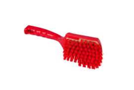 119151012-3 -Polyester handborstel vezels in hars gegoten kleurcode HACCP 275 mm x 70 mm hard rood 90548