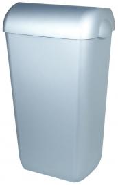 5676 - Kunststof RVS-look afvalbak 43 liter half open, PQA43M
