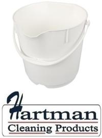 300106101-1 - FBK Emmer hoogwaardige kleurcode HACCP hygiënische polypropyleen 15 liter wit 80101