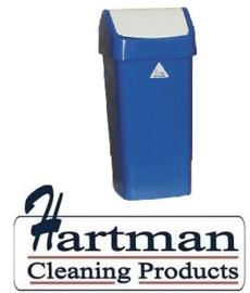 L3003292 - Afvalbak met schommeldeksel blauw 50 Liter SYR
