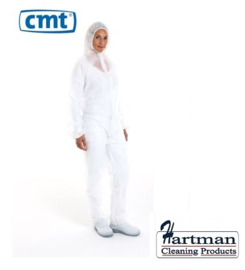 814419 - CMT pp non woven coverall, wit, Medium regular weight