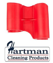 410101104-3 - FBK HCP Polypropyleen Clip voor steel hotel stofblik rood 80204