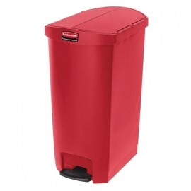 GL035 -  Rubbermaid Slim Jim End Step pedaalemmer 68 ltr rood