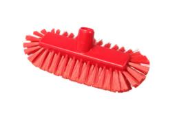 220161012-3 - Inwasborstel waterdoorlatend FBK hoogwaardige kleurcode HACCP FBK hygiënische polyester 290 x 130 mm gespleten vezel zacht rood 20105