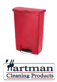 GL038 - Rubbermaid pedaalemmer rood 90ltr