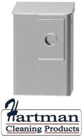 8400 -Hygiëneafvalbak 6 liter aluminium + zakjeshouder, MediQo-line MQWB6HBKA