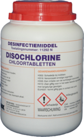 86720 - CHLOORTABLETTEN Desinfectiemiddel toelatingsnummer 11292N - 1 x 300 tabletten