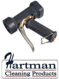 600161024-6 - FBK Waterpistool zwaar model 24 bar - tot 95 graden belastbaar zwart 0411