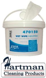 470150 - De Euro wet wipe handdoeken 4 x 150 Doeken
