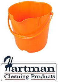 306106101 - FBK Emmer hoogwaardige kleurcode HACCP hygiënische polypropyleen 1 oranje5 liter 80101