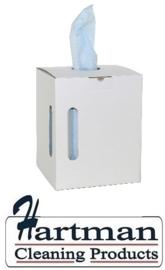 353854 - M-Wipe blauwe rol in Euro dispencer box  met 390 nonwovendoeken. Afmeting vel 38 x 30 cm EURO products