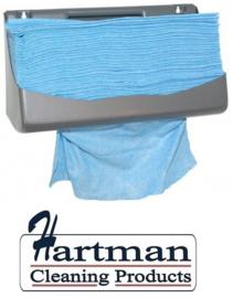 353151 - M-Wipe blauwe doek in Euro dispencerpak  met 5 x 130 nonwovendoeken. Afmeting vel 42 x 35 cm