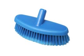 742161005-2 - Hoogwaardige kleurcode HACCP hygiënische kunststof wasborstel waterdoorlatend uit 1 stuk , zacht met gespleten vezels 265 x 90 mm, blauw 24104
