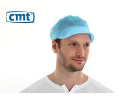 813168 - CMT pp non woven pet met klep, blauw, 'peak cap'