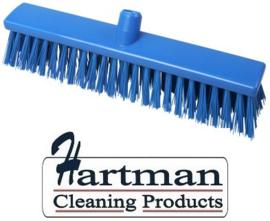 22210130-2 - FBK Hoogwaardige kleurcode HACCP Polyester hygiënische kunststof extra harde bezem 400 x 60 mm blauw 25187