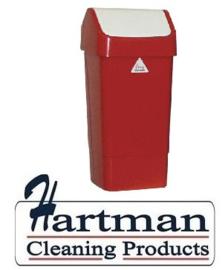 L3003291 - Afvalbak met schommeldeksel rood 50 Liter SYR