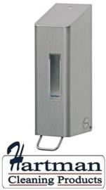 S1415813 - SanTRAL Classic RVS Zeepdispenser. 600 ml. navulbaar met pomp. Type NSU 5 E/S. Afmeting 285x97x117 mm