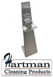 8233716012 - Vloerstandaard voor Handreiniger en Desinfectie middelen RVS inbouwklaar H 1190mm B 330mm D 300