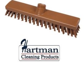 31810101-12 - FBK schrobber met harde vezels geschikt voor hardnekkige reiniging van vloeren en wanden 280 x 50 mm, hard, bruin 20153