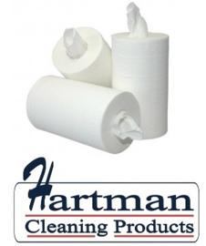 119020 - EURO Mini handdoek / Poetspapier(zonder koker) / 1-laags wit 120 meter x 20cm, doos à 12 rol