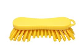 22030126-4 - FBK Polyester werkborstel kleurcode HACCP 210 mm x 70 mm harde vezel geel 10565