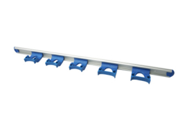 722102106-2 - FBK HCS Wand railophangsysteem kleurcode HACCP aluminium 900 mm 5 x klem blauw 15157