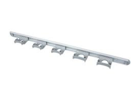 722102106-11 - FBK HCS Wand railophangsysteem kleurcode HACCP aluminium 900 mm 5 x klem grijs 15157