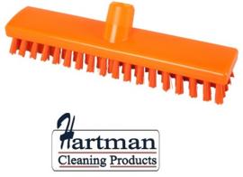 32510104-7 - FBK HACCP kleurcode schrobber met harde vezels geschikt voor hardnekkige reiniging van vloeren en wanden 300 x 60 mm, hard, oranje 23153