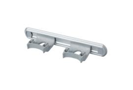 700102104-11 - Wand railophangsysteem kleurcode HACCP aluminium 300 mm 2x klem grijs 15158