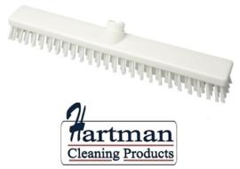 33210102-1 - FBK HACCP kleurcode schrobber met harde vezels geschikt voor hardnekkige reiniging van vloeren en wanden 400 x 50 mm, hard, wit 21153