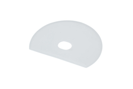 60880115 - Hoogwaardige kleurcode HACCP hygiënische deegschraper 160 x 125 mm, wit